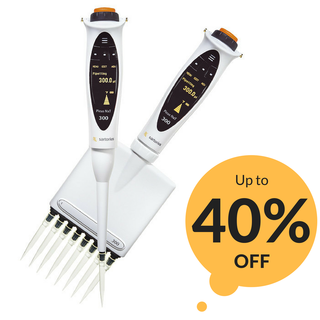 Up to 40% off select Sartorius Pipette Models!