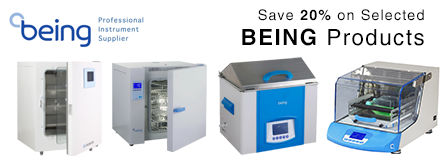 Save 20% on BEING Incubators, Baths, Ovens, and Shakers