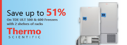 Save up to 51% on TDE ULT 500 & 600 Freezers With 2 Shelves of Racks