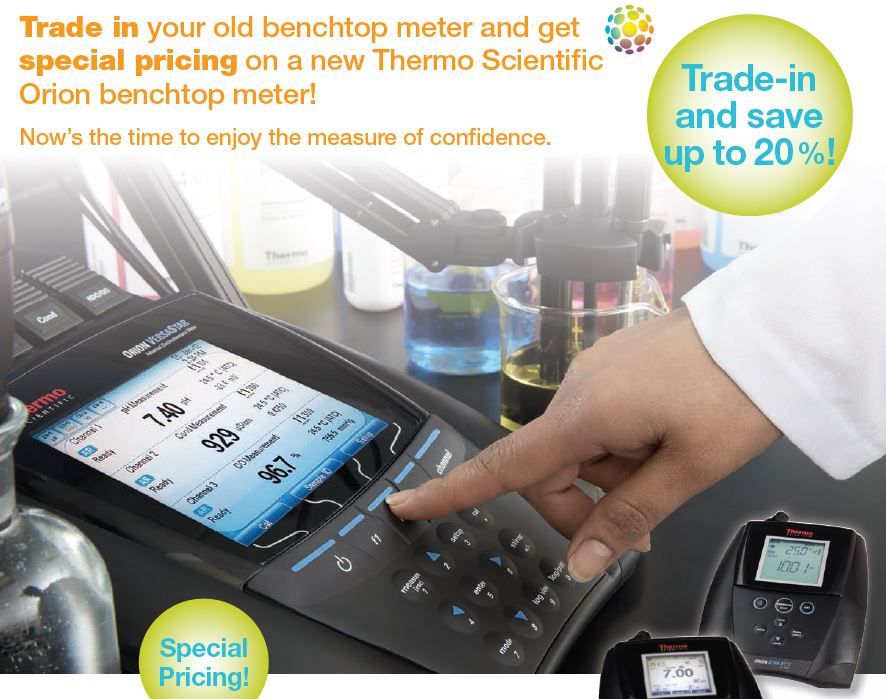 Trade-in Your Old Benchtop Meter and Save Up to 20 %!